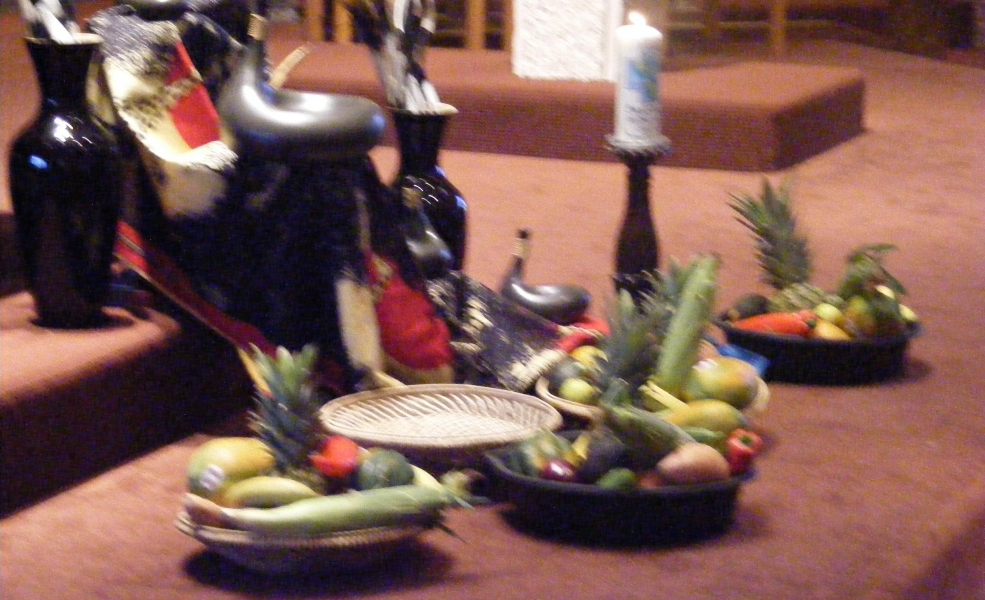 Display of Native fruits